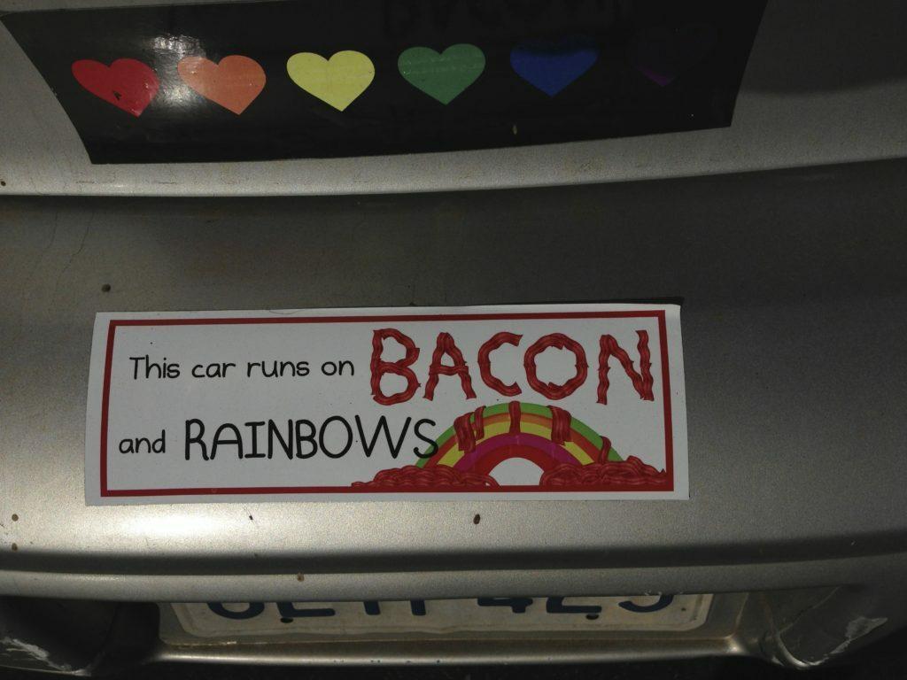 Bacon Bumper Sticker Hilarious