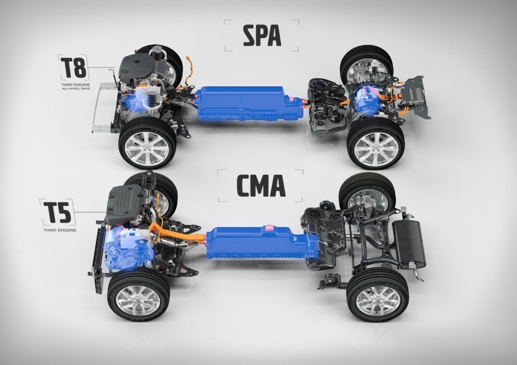 T5 Twin Engine on CMA and T8 Twin Engine AWD on SPA Photo courtesy: Volvo Cars