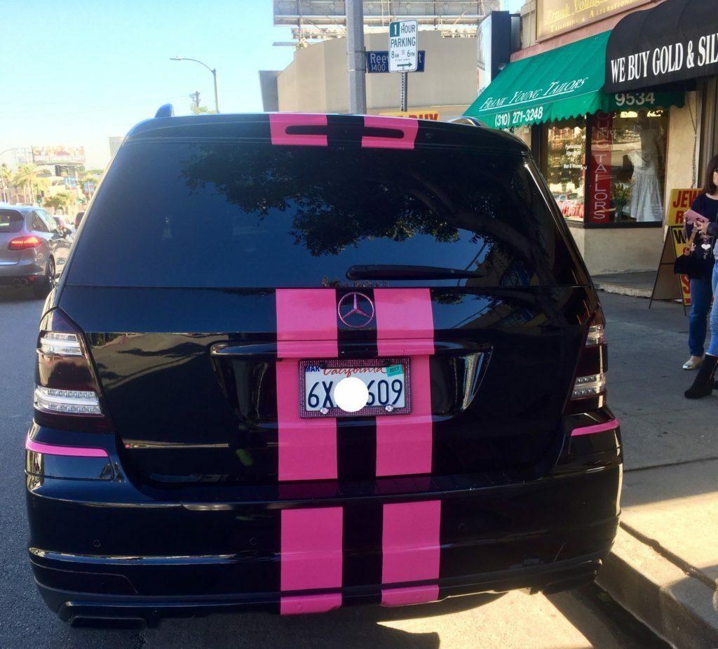 mercedes black & pink