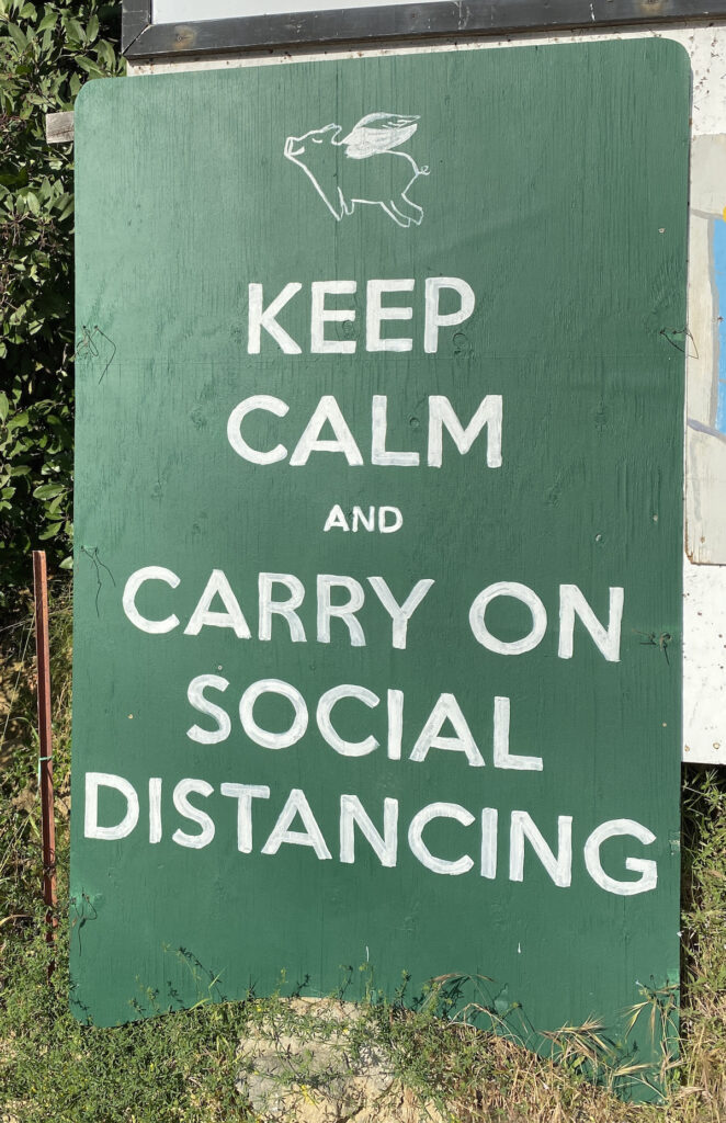 COVID keep calm and carry on social distancing