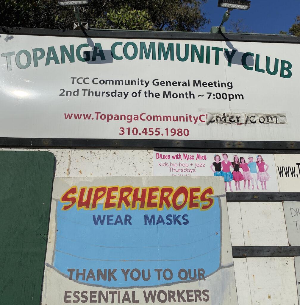 COVID signs Topanga